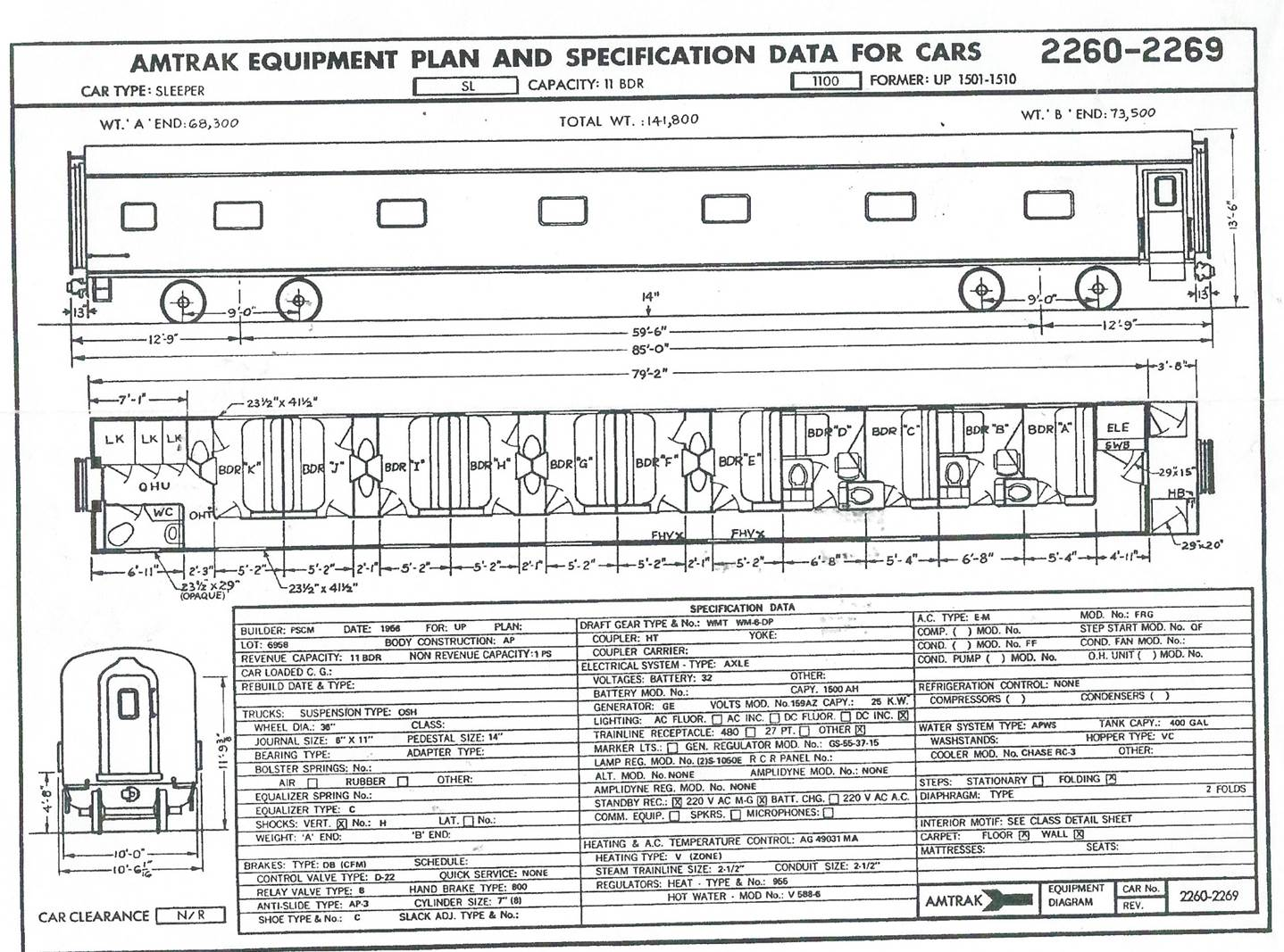 Train car diagram