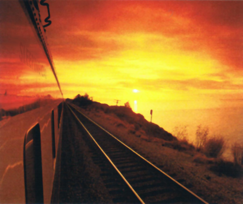 Railroad view at Sunset
